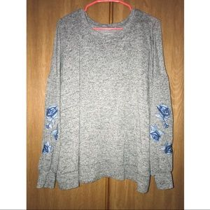 Lane Bryant Knit Sweater w/ Embroidered Flowers
